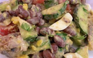 Салат из красной фасоли: рецепты с фото