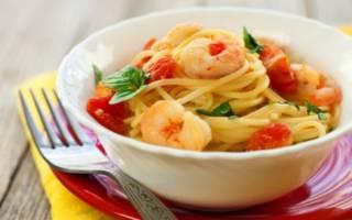 Паста с креветками: рецепты