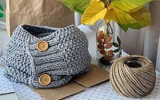 Как связать шарф-хомут спицами: схемы для начинающих