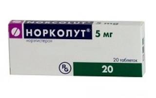 Норколут – инструкция по применению таблеток