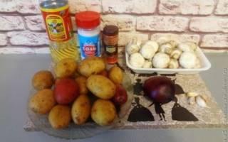 Картошка с грибами в духовке: рецепты с фото