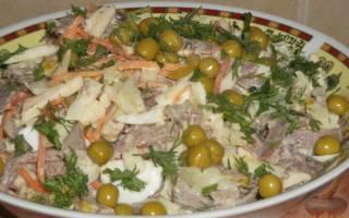 Салат с языком: вкусные рецепты