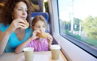 Что взять с собой в поезд из еды и вещей