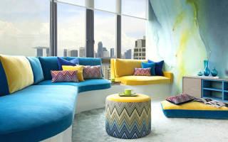 Интересные сочетания цветов в интерьере гостиной