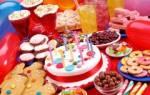 Детское меню на день рождения с рецептами
