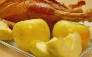 Утка с яблоками в духовке: пошаговые рецепты
