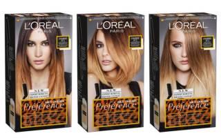 Палитра красок для волос Лореаль Преферанс