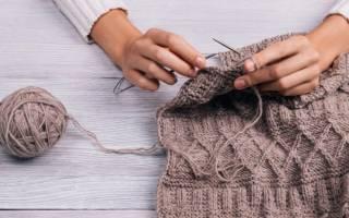 Вязание спицами для начинающих: схемы с описанием