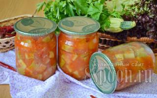 Салат из кабачков на зиму без стерилизации – пошаговые рецепты с фото
