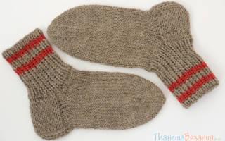 Как вязать на спицах пятку носка