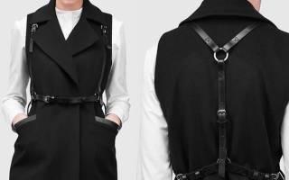 Женская портупея: с чем носить