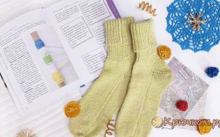 Вязание носков на 2 спицах начинающим