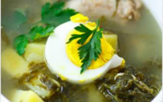 Щавелевый суп: рецепты с фото