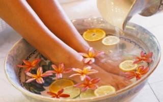 Как делать ванночки для ног дома