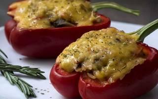 Фаршированный перец в духовке – рецепты с фото.