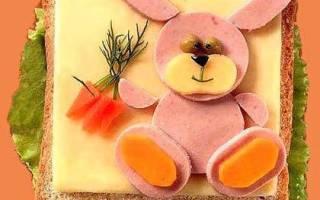 Оригинальные бутерброды для детей: рецепты для праздника или завтрака