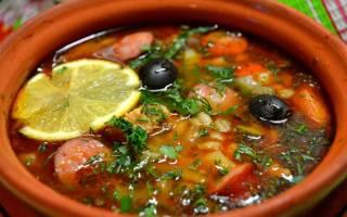 Суп солянка: рецепты с фото