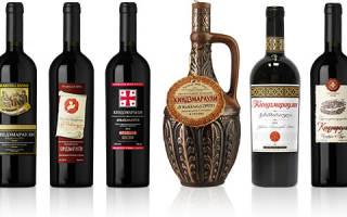 Киндзмараули – грузинское вино