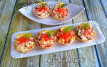Тарталетки с крабовыми палочками и яйцом – пошаговые рецепты с фото