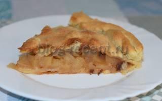 7 рецептов пирога из слоеного теста с яблоками
