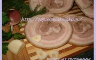 4 рецепта рулета из свиной брюшины