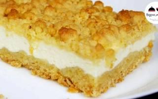 Песочный пирог с творогом: рецепты