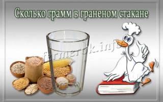 Сколько граммов в стакане: таблица веса продуктов