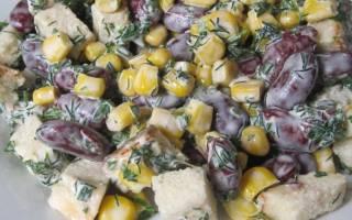 Салат с сухариками: вкусные и простые рецепты
