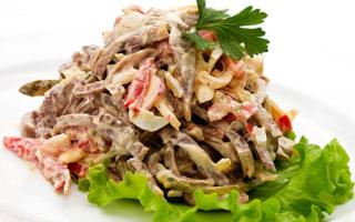 Салат из свиного языка: вкусные рецепты