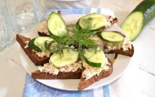 Бутерброды с печенью трески: рецепты
