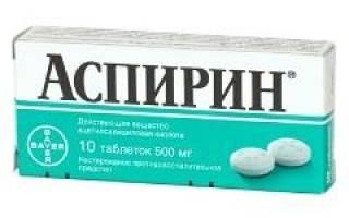 Аспирин – инструкция по применению и отзывы